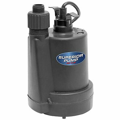 NEW Submersible Utility Water Pump Superior 91250 1/4HP 30GPM Ships Free SAMEDAY