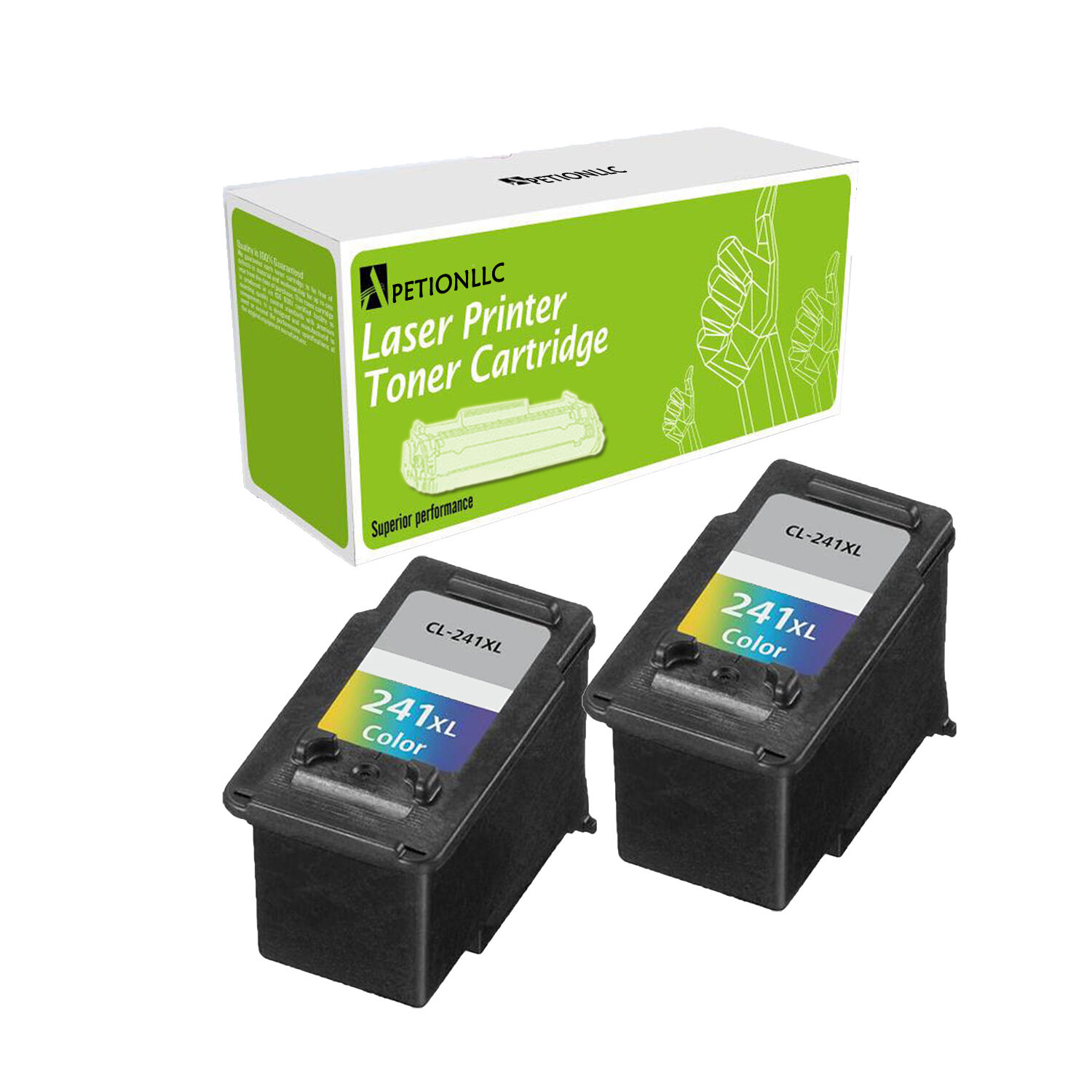 Cl-241xl Color 2pack Compatible Ink Cartridge For Canon P...