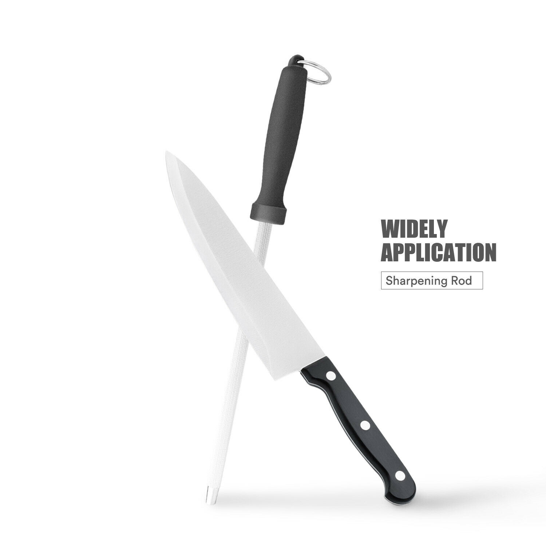 Sharpener Steel Blade Diamond Coated Rod Knife Sharpening To
