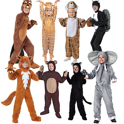 Lovely Animal Kids Costume Boy Pajama Sleepwear Jumpsuit Cosplay Halloween Party - Party Animal Costume