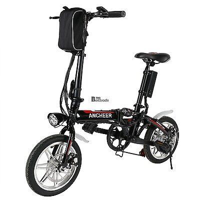 "14"" Folding Electric Bike Bicycle Ebike Lithium 250W 36V SHIP FREE#BT7E#black"