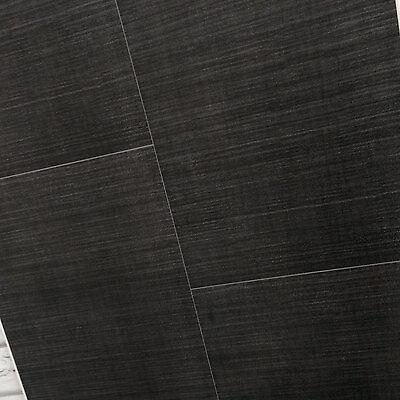 5 x Dark Grey PVC Bathroom Wall Cladding Panels Large Tile Effect Cladding