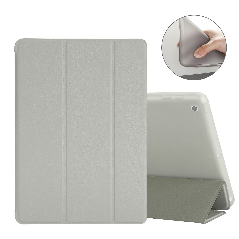 "Slim Leather Smart Cover Back Case for Apple iPad 2 3 4 5 Mini 2 3&2017 9.7"" LOT"