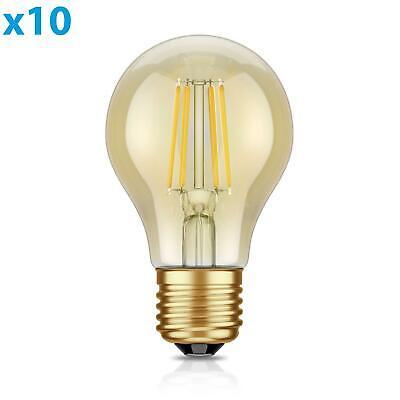 Warm Amber Glas (E27 LED Lampe Glühfaden Vintage amber A60 4W =40W extra-warm-weiß 400lm A++ auch)