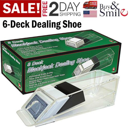Trademark Blackjack Poker Dealing Shoe 6 Deck Discard Cards Holder Casino Dealer