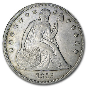 Liberty Seated Silver Dollar - Random Year - Very Fine