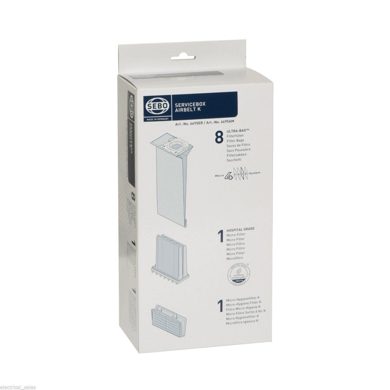 6695er con filtro ORIGINALE PER ASPIRAPOLVERE SACCHETTI DI Sebo Air belt k1 servicebox art