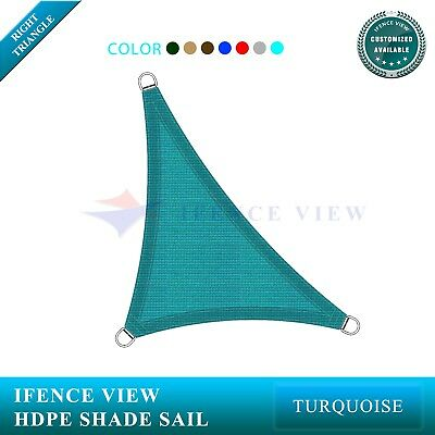 Right Triangle 5'-24' Sun Shade Sail Patio Canopy Awning Turquoise Blue 7 color ()