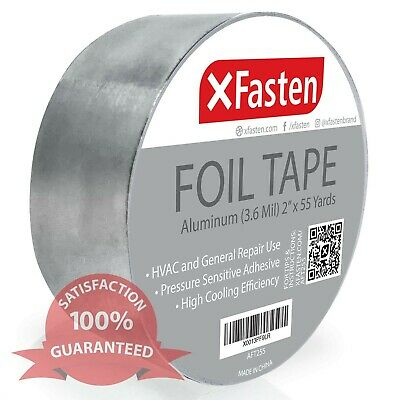 Xfasten Aluminum Foil Tape 3.6 Mil 2 Inches X 55 Yards