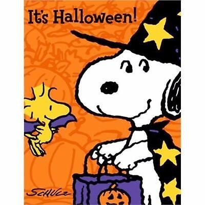 Peanuts Charlie Brown Snoopy Cartoon Halloween Party Invitations w/Envelopes