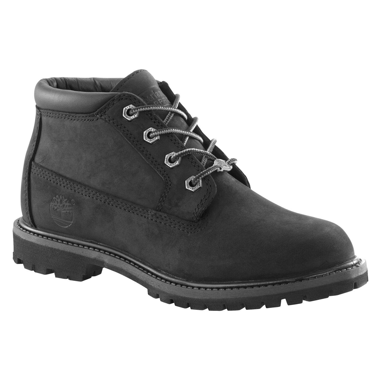 Women's Timberland 4Eye Waterproof Nellie Chukka Double Boots Black Nubuck 23398