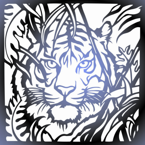 Tiger  DXF of PLASMA Laser Cut - CNC Vector DXF-CDR - AI