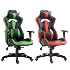 High Back Gaming Chair Ergonomic Computer Chair PU Leather Swivel Recliner