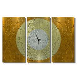 Modern Abstract Painting Metal Clock Wall Art Sculpture Original By Jon Allen
