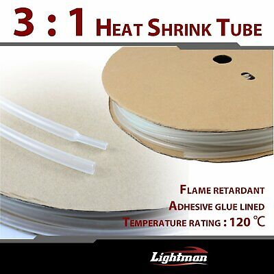 10ft 14 Clear Heat Shrink Tubing 31 Ratio Marine Tuner Adhesive Glue Lined