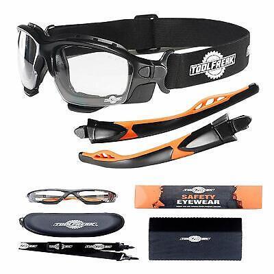 ToolFreak Spoggles, Safety Glasses and Protective Goggles, Eyewear Foam Padded