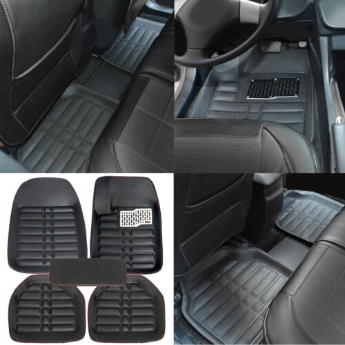 car parts 2011 nissan rogue sl 2.5l - US Black 5pc Floor Mats All-Weather Universal 5 Seats Car FloorLiner Carpets Set