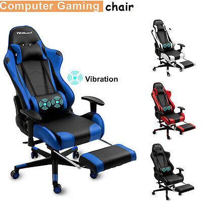 Gaming Chair Racing Ergonomic Recliner Office Computer Desk Seat Footrest Swivel