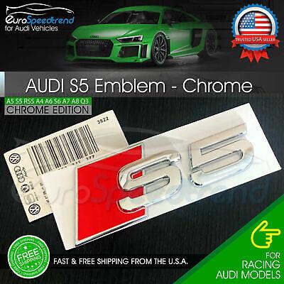Audi S5 Emblem Chrome 3D Badge Rear Trunk Lid for S Line OEM Logo Nameplate A5