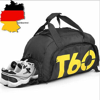 3 in 1 Sporttasche 36 L Training Rucksack Reisetasche Fitnesstasche Herren Damen