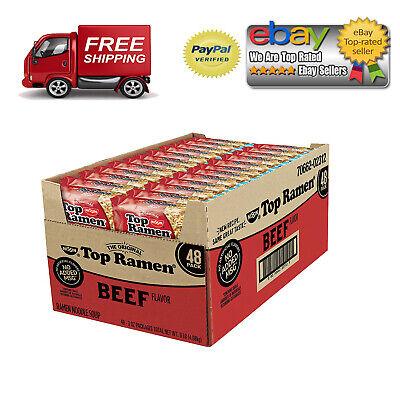 Nissin Top Ramen, Beef Flavor (3 oz., 48 ct.) *BEST DEAL IN US* ()
