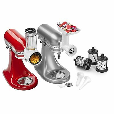 KitchenAid Stand Mixer Attachment / Slicer, Shredder+Grinder, Sausage Stuffer