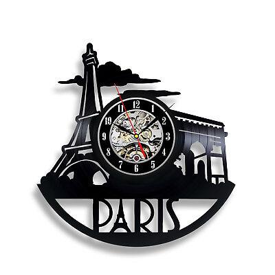 Paris City Town Gift Art Birthday Party Wall Nursery Vinyl Record Clock (Paris Birthday Party Dekorationen)