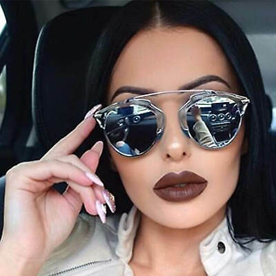 Designer Inspired Aviator Sunglasses Mirrored Lens Women Fashion Trendy (Designer Mirrored Aviator Sunglasses)