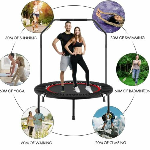 "40"" Fitness Trampoline Mini Rebounder Fitness Foldable Gym C"