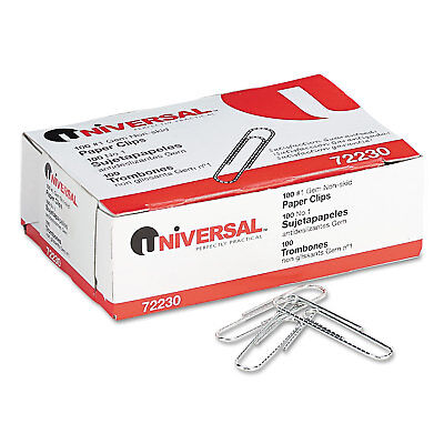 Universal Nonskid Paper Clips Wire No. 1 Silver 1000pack 72230