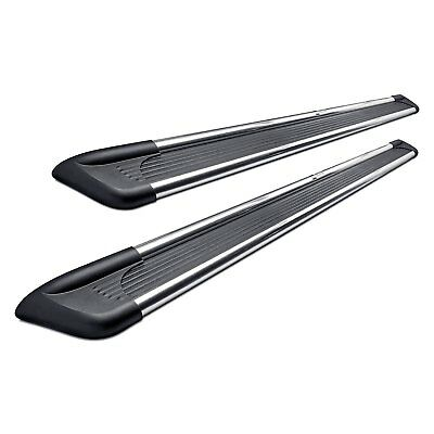 "For Ram 1500 11-19 6"" Sure-Grip Cab Length Black Running Boards w Brite Trim"