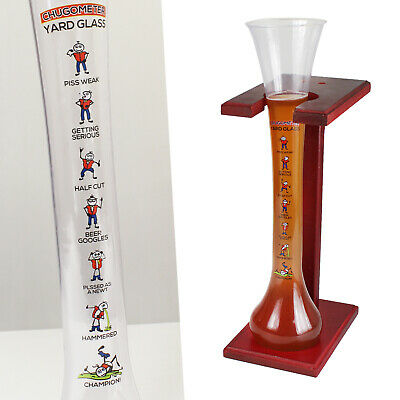 Yard Plastic Drinking Glass (Yard of Ale Beer Glass Stand Plastic 1.5 Pint 25oz Fun Drinking Game Stag)
