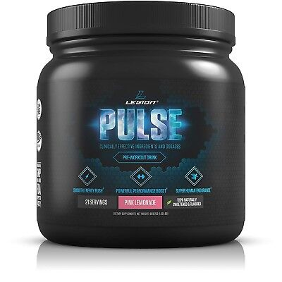 Legion Pulse, Best Natural Pre Workout Supplement for Women and Men –