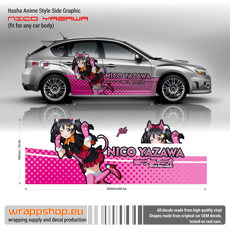 Nico Yazawa Itasha Anime Side Graphic Decals Love Live School Idol Project Ebay