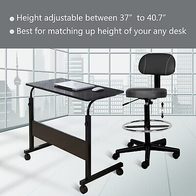 Office Drafting Chair Detachable Counter Height Swivel Chair Bar Stool Ergonomic