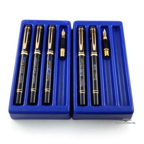 Waterman Blue Rapsody Fountain Pen Tester Set W/ 2 Extra Nibs!