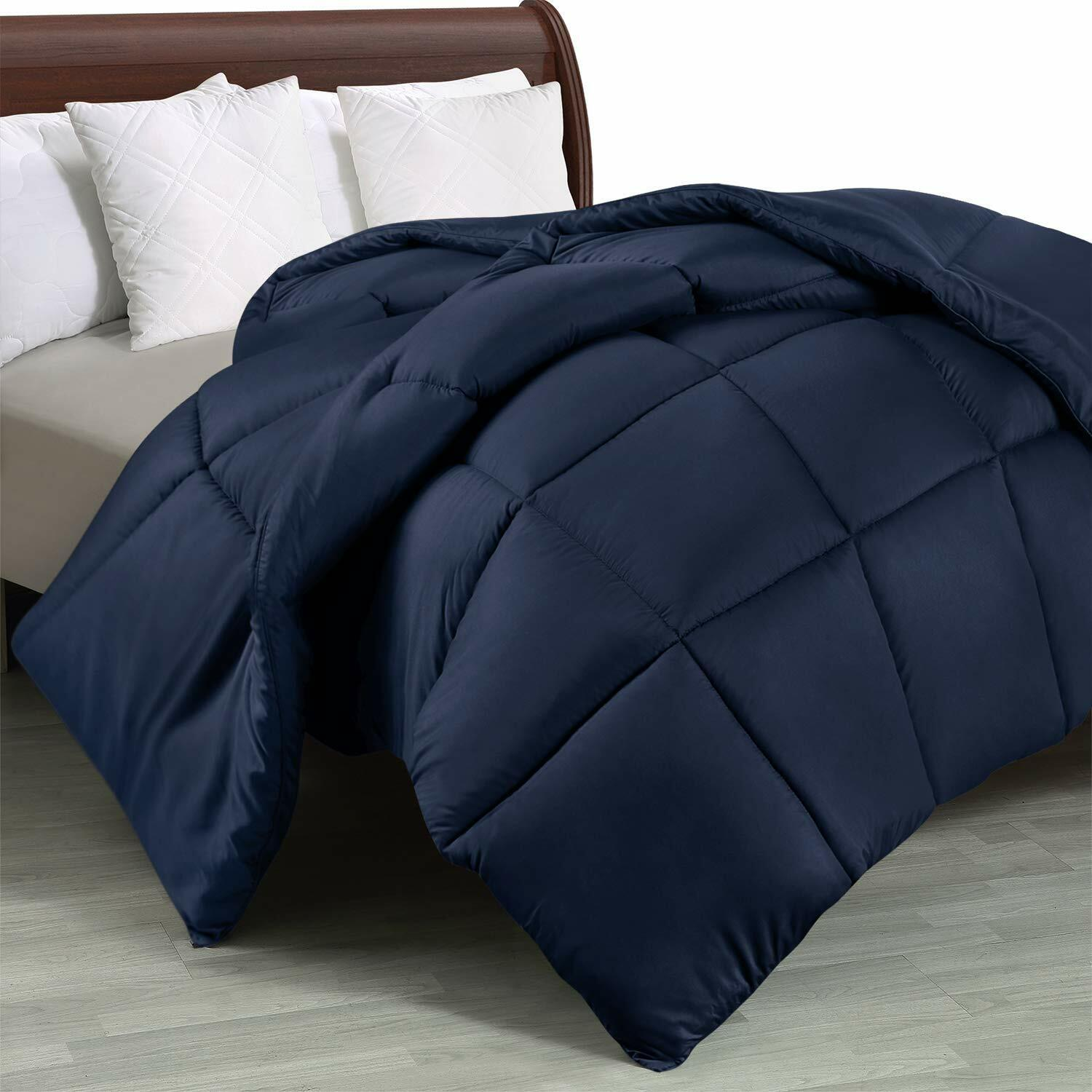 Quilted Comforter with Corner Tabs Box Stitched Down Alterna
