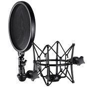 Neewer Metal Microphone Shock Mount and Detachable Pop Filter Windscreen Shield