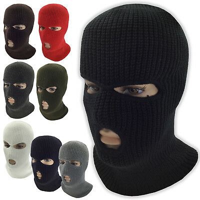 3 Hole Face Mask Ski Mask Winter Cap Balaclava Hood Army Tactical Mask