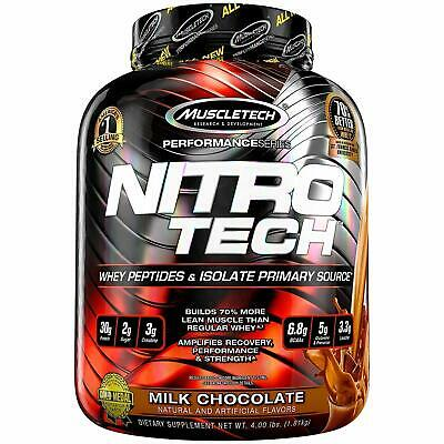 MuscleTech Nitro-Tech Whey Protein Isolate Supplement Powder 907g &