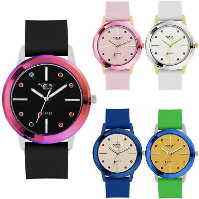 Designer Milano Expressions Round Fashion Watch Silicone Band Women Luxury Style