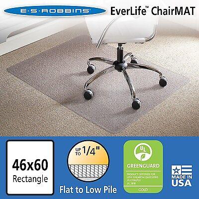Es Robbins Chair Mat For Flatlow Pile Carpet 46 X 60 No Lip Clear