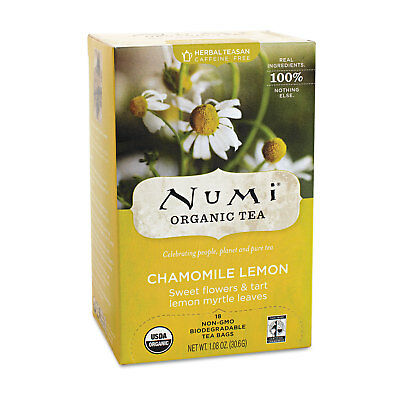 Numi Organic Teas and Teasans 1.8oz Chamomile Lemon 18/Box 10150 ()