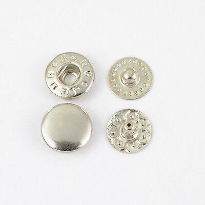 90 S-Feder Druckknöpfe VT-2 / 10mm silber, Knopf für Spindelpresse, Textil, Tuch
