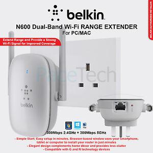 belkin n600 universal dual band wi fi range extender wireless signal booster uk ebay