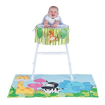BABY 1st Birthday ZOO ANIMAL High Chair Decorating Kit Safari Jungle Decoration