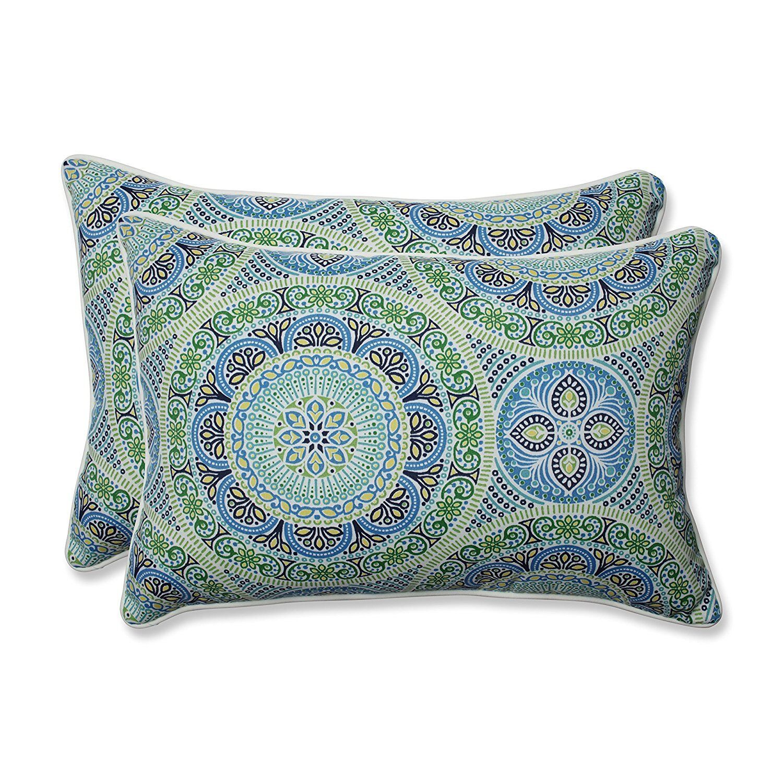 New Pillow Perfect Delancey Lagoon Oversized Rectangular Thr