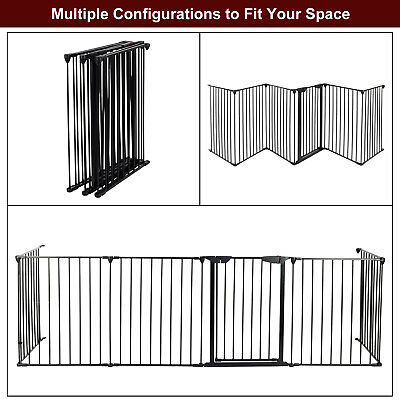 6pcs Steel Garden Fence Panels No Dig Edging Yard Fencing Decorative Low Border Ornamental Metal Fence