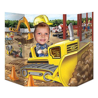 Digger Photo Prop - 94 x 64 cm - Construction Site Party Decorations - Builder (Construction Site Party Supplies)