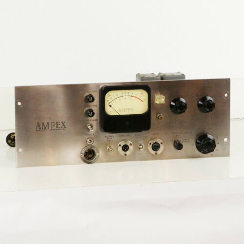 1950s Ampex Model 400 Vintage Microphone Tape Machine Mic Pre Amp Amplifier